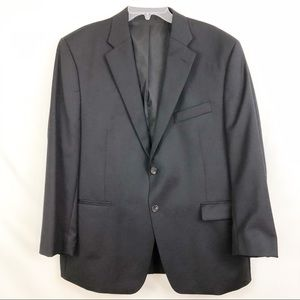 Ralph Lauren Black Two Button Wool Suit Coat 46S
